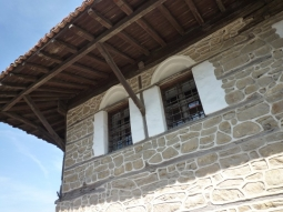 Bulgarien Melnik Architekturdetail