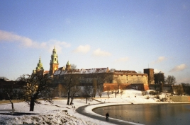 Krakau Wawel Winter